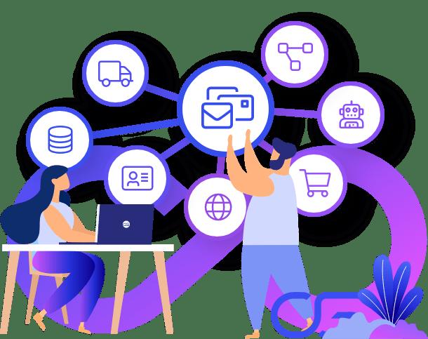 Mailchimp hubSpot integreren in ERP