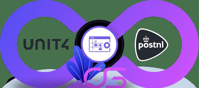 PostNL vervoerder koppeling integratie met Unit4 ERP