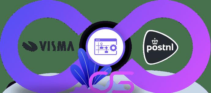 PostNL vervoerder koppeling integratie met Visma