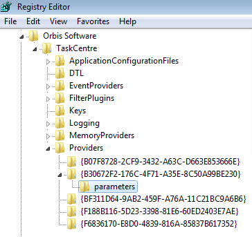 Recordset to XML: Melding 'System.UnauthorizedAccessException: Access to the registry key 'HKEY_LOCAL_MACHINESOFTWAREOrbis SoftwareTaskCentreProviders{B30672F2-176C-4F71-A35E-8C50A99BE230}parameters' is denied' 1