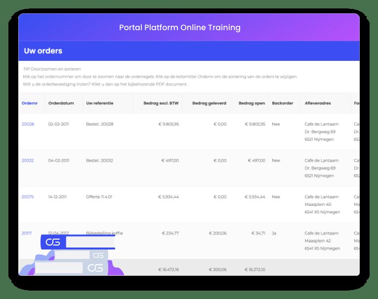 Portal Platform training