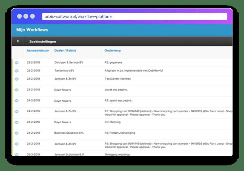 Mail Template - Workflow Platform